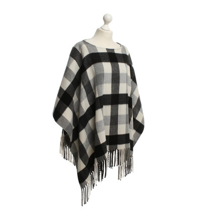 Michael Kors Poncho with check pattern