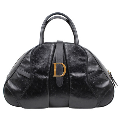 "Christian Dior ""Saddle Bowling Bag"" aus Straußenleder"