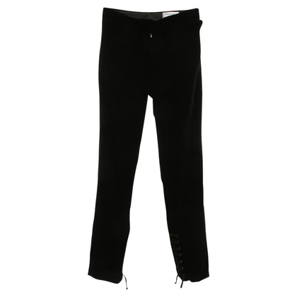 Yves Saint Laurent Pants in zwart fluweel