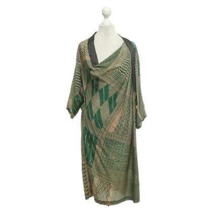 Dries van Noten Silk dress with pattern