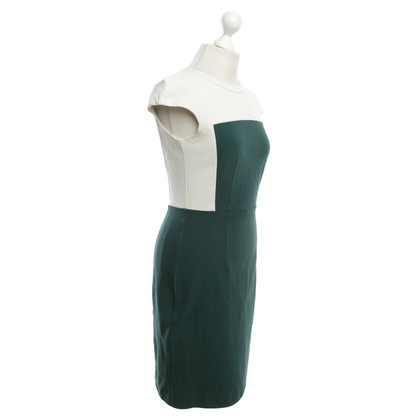 Theory Dress in green / white