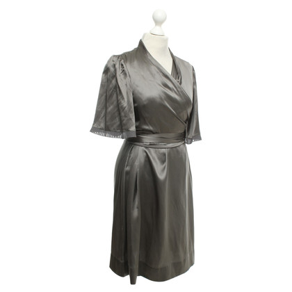 BCBG Max Azria Robe en soie gris