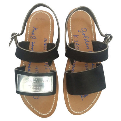 K Jacques sandali di cuoio