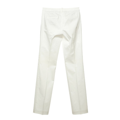 Hugo Boss White trousers with crease