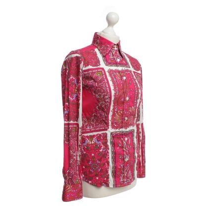 Etro Bluse mit mehrfarbigem Muster