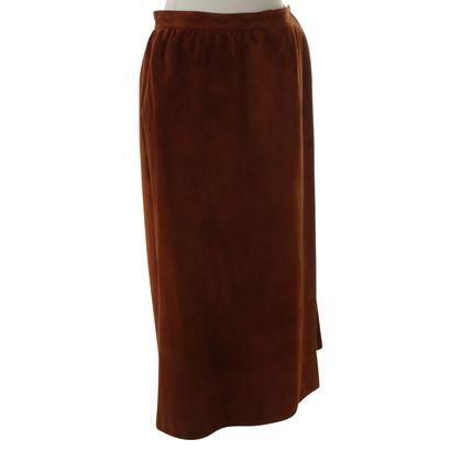 Hermès Wrap skirt in rust