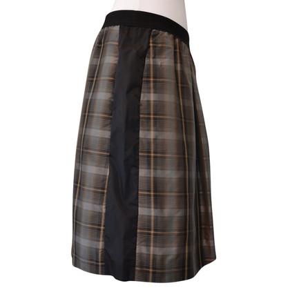 Schumacher skirt with plaid pattern in silk
