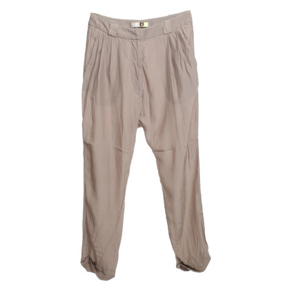 MSGM Silk trousers in Taupe