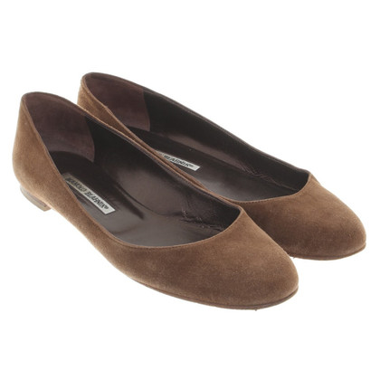 Manolo Blahnik Brown Ballerine