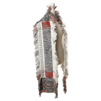 Céline Patterned scarf with fringe