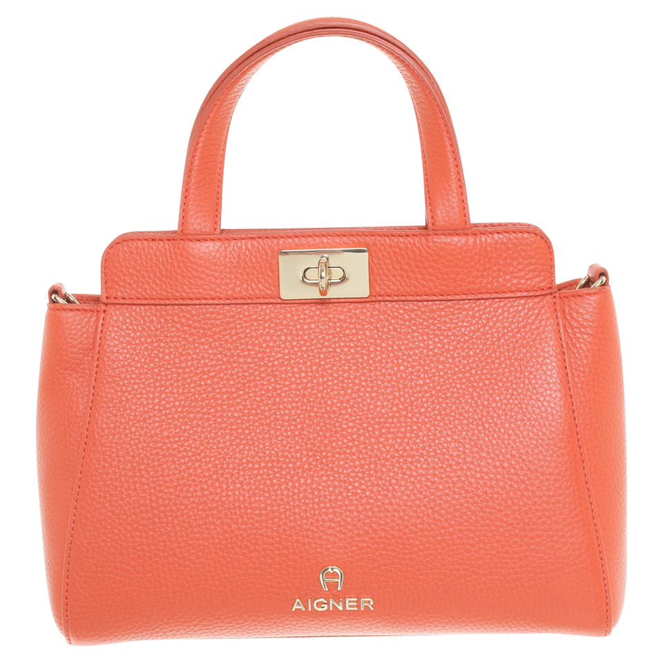 aigner handtasche in orange second hand aigner handtasche in orange gebraucht kaufen f r 349. Black Bedroom Furniture Sets. Home Design Ideas