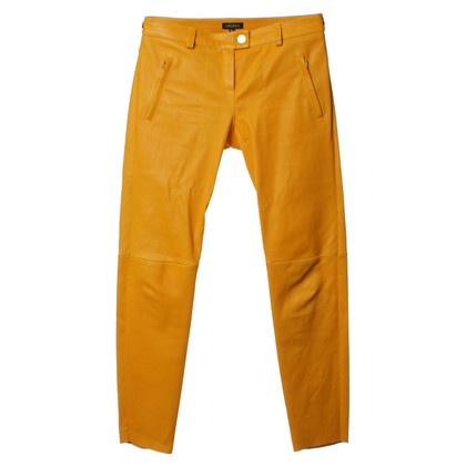 Escada Pantaloni in pelle arancione
