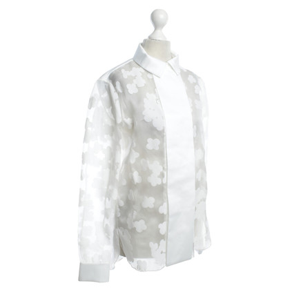 Carven Semitransparent blouse in white