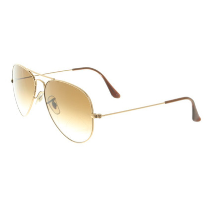 Ray Ban Sunglasses in gold / brown