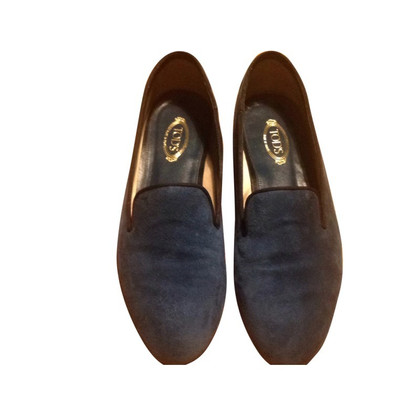 Tod's Suede loafers in blue