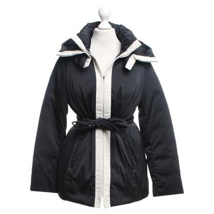 Max Mara Down jacket in black / cream