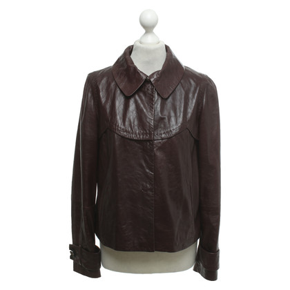 Sport Max Leather jacket in brown