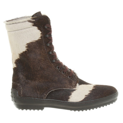 Tod's Boots in brown/white