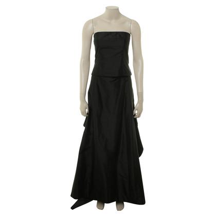 René Lezard Extravagantes Kleid in Schwarz