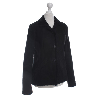 Jil Sander Lamb leather jacket in black