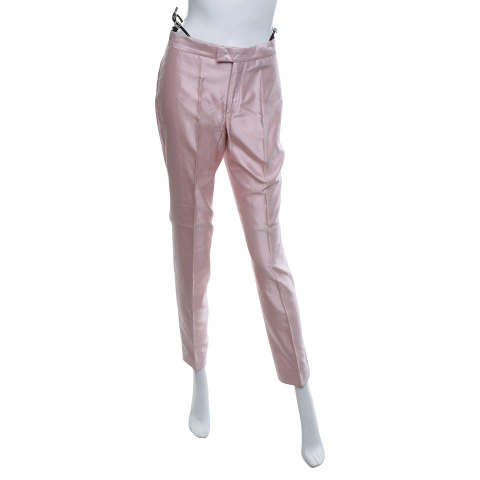 gucci pantalon en soie en rose acheter gucci pantalon en soie en rose second hand d 39 occasion. Black Bedroom Furniture Sets. Home Design Ideas