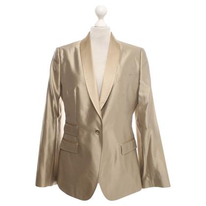 Dolce & Gabbana giacca di seta beige
