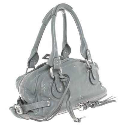 Chloé Leather handbag in grey-green