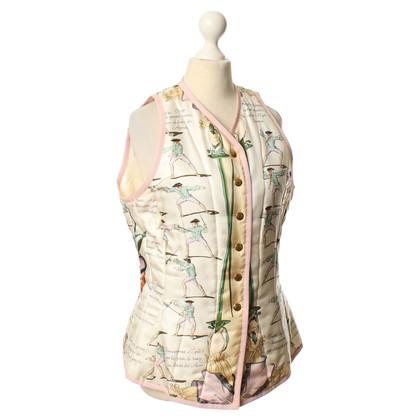 Hermès Vest met gedrukte motief