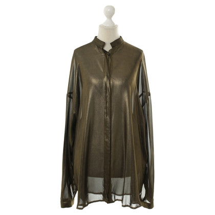 Haider Ackermann Wide blouse in metallic