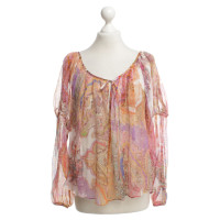 Haute Hippie Silk blouse with paisley pattern