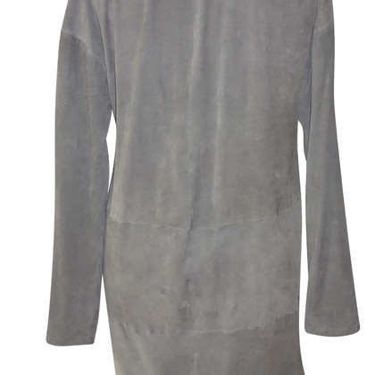 Utzon giacca di pelle scamosciata marrone scuro