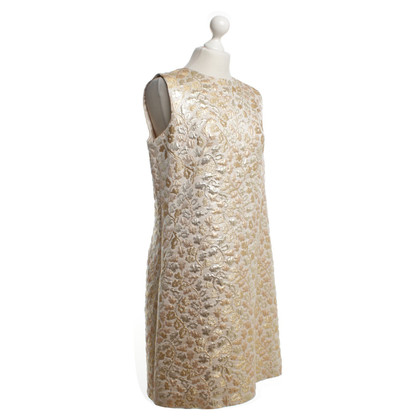 Dolce & Gabbana Gold colored brocade dress with pattern