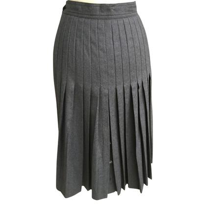 Bogner Pleated wool skirt