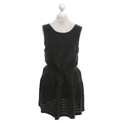 Joie zijden jurk in donkergrijs