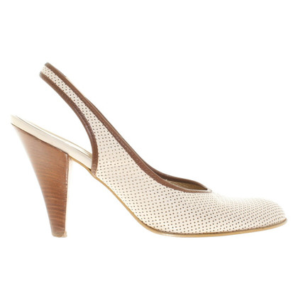 Hugo Boss Slingback pumps in het wit