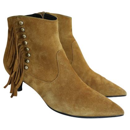 Saint Laurent Fringe cat boots