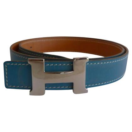 Hermès Blauw lederen riem