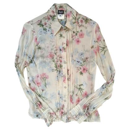D&G zijden blouse