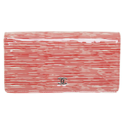 Chanel Wallet in rood / wit