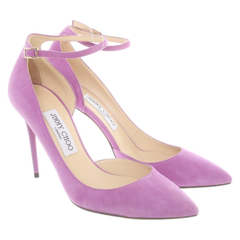 Jimmy Choo Sandals Suede in Violet