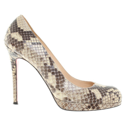 Christian Louboutin pumps of reptile leather