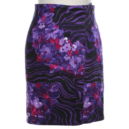 Gianni Versace skirt with colorful print