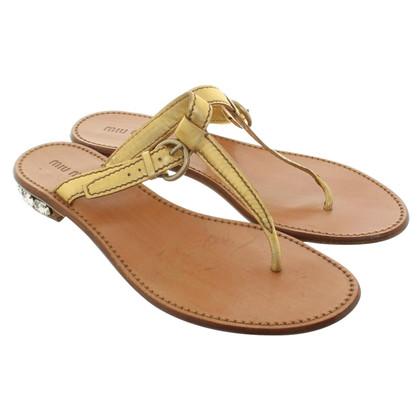 Miu Miu Sandals with precious stones