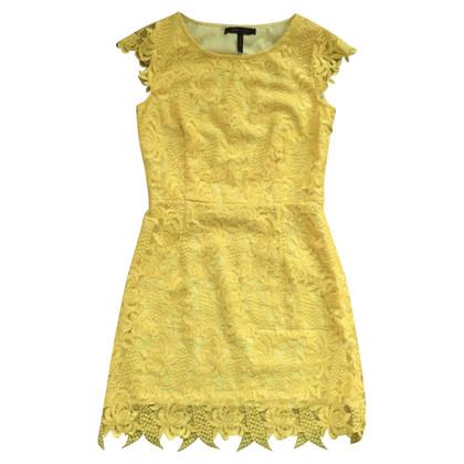 BCBG Max Azria Yellow Lace Dress