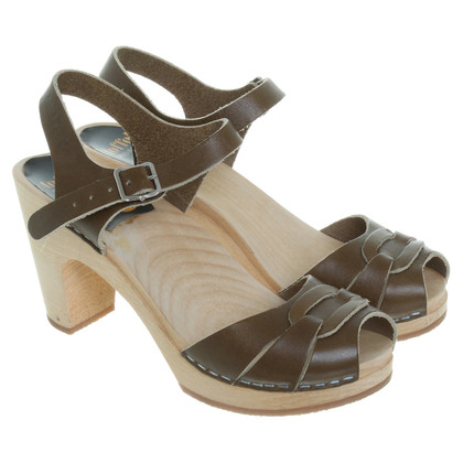 Swedish Hasbeens Sandals in khaki