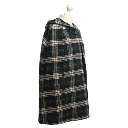Yves Saint Laurent Cape in check pattern