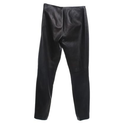 Ralph Lauren Black Label Pantaloni di pelle in nero