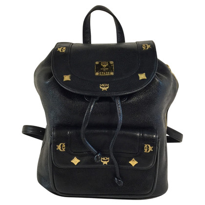 MCM Black leather backpack
