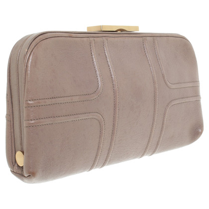 Smythson clutch in Taupe