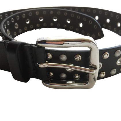 Isabel Marant Leather belt in black